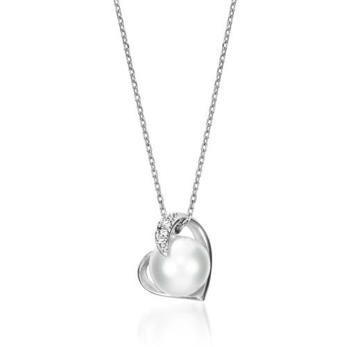 PEARL IN THE HEART NECKLACE