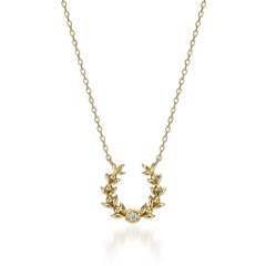 DIAMOND OLIVE HORSESHOE NECKLACE