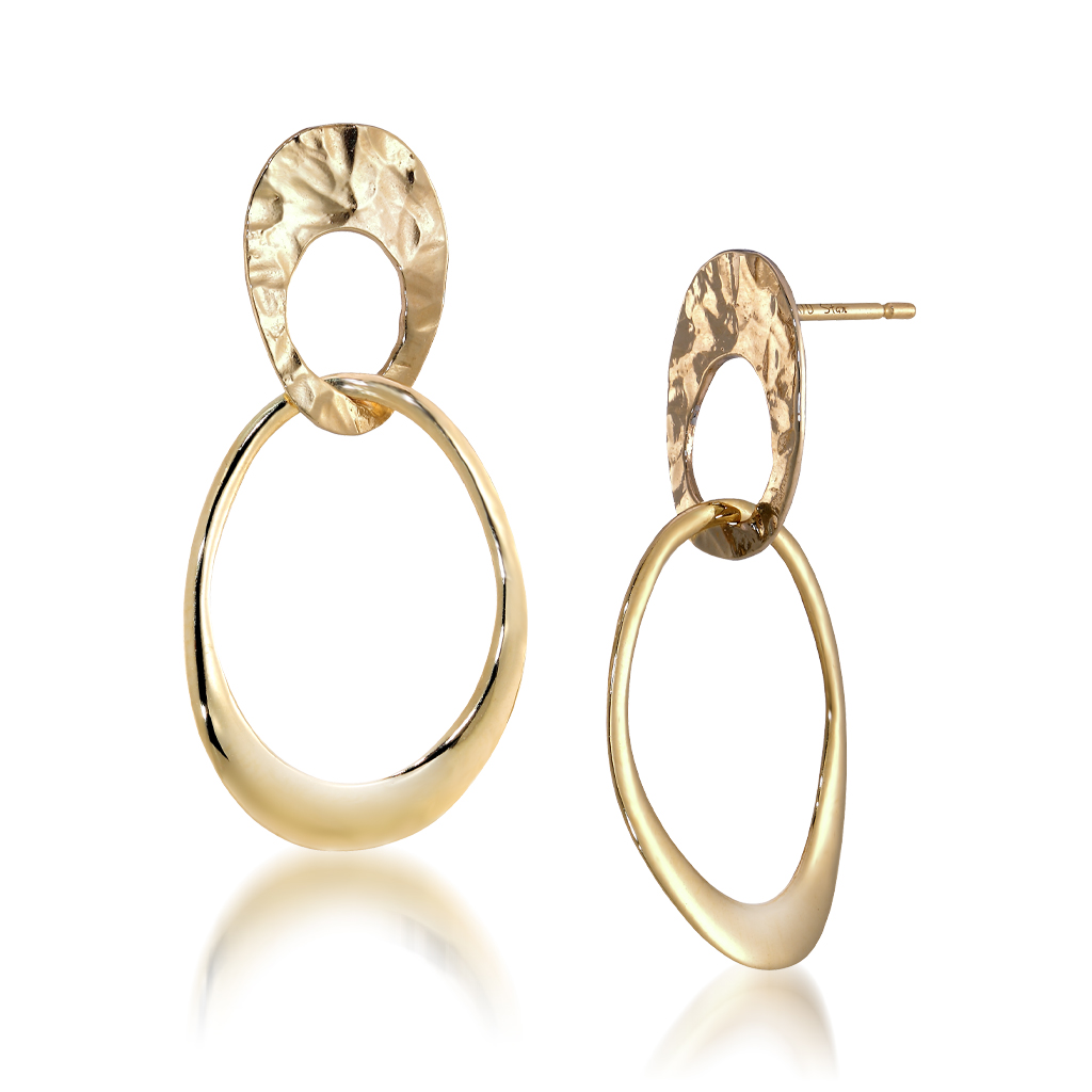 GOLD TEXTURE PIERCED EARRINGS