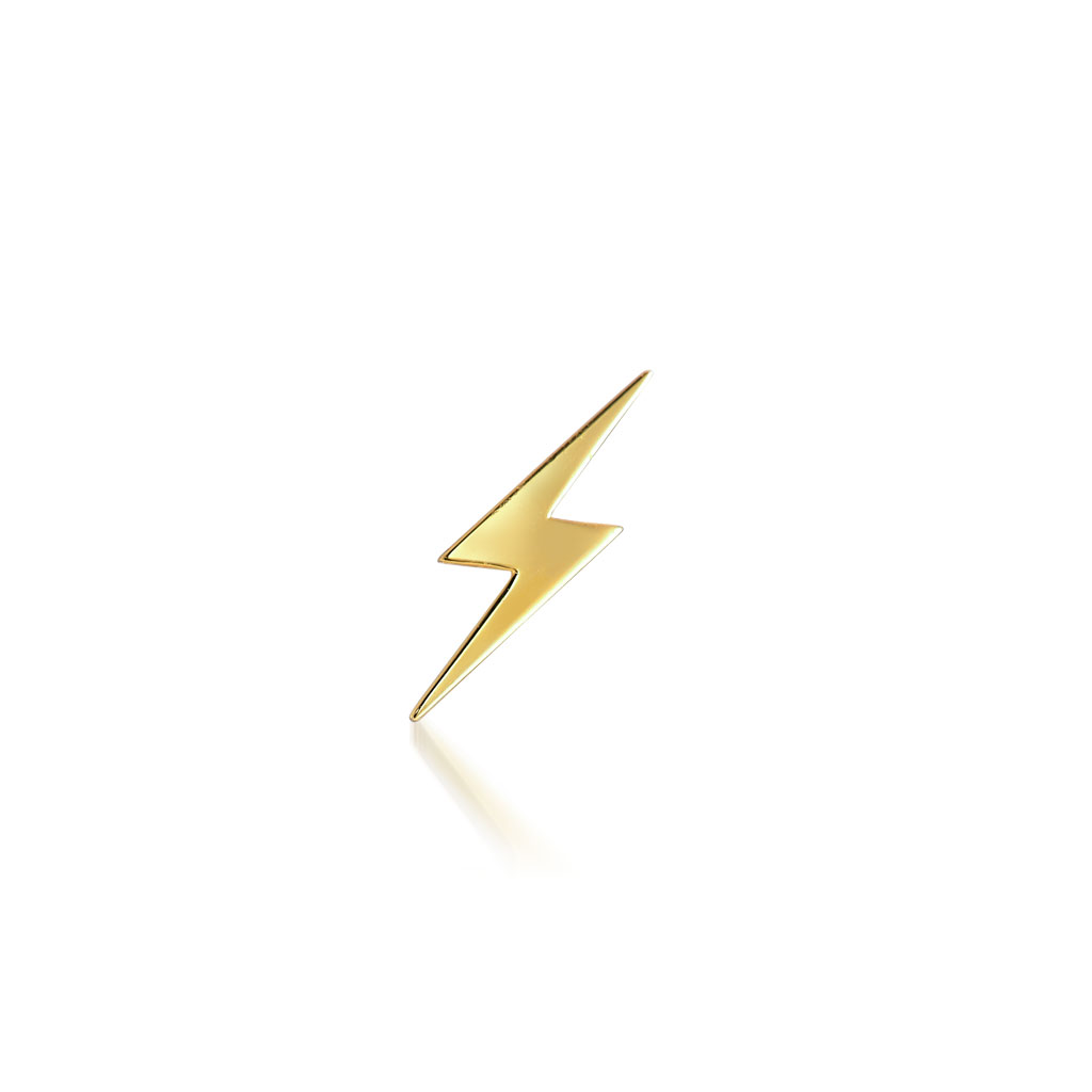 LIGHTNING PIERCED EARRING