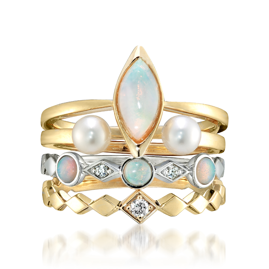 【Xmas限定】SNOW LIGHT-stacking holiday rings-